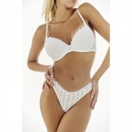 ART 1299 - Corpiño taza soft de microfibra con antideslizante en cintura y coleta con bretel desmontable