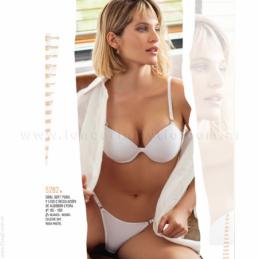 ART4640 - Pijama de Algodón Rústico, con Puños y aplique Bordado.